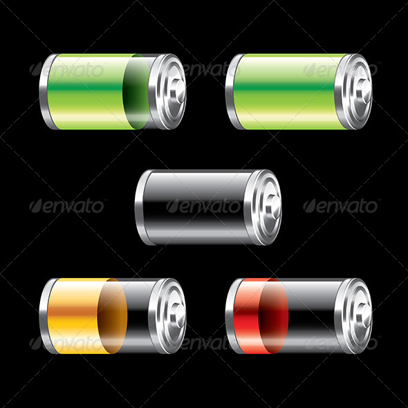 GraphicRiver Battery Set 7341558