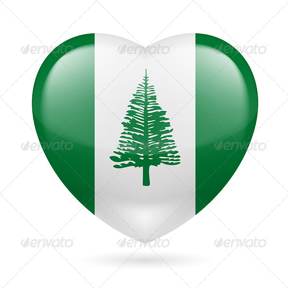 GraphicRiver Heart Icon of Norfolk Island 7341560