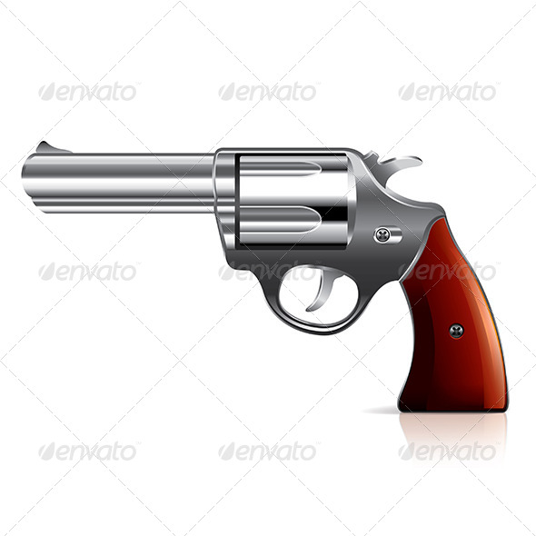 GraphicRiver Old Revolver Illustration 7341561