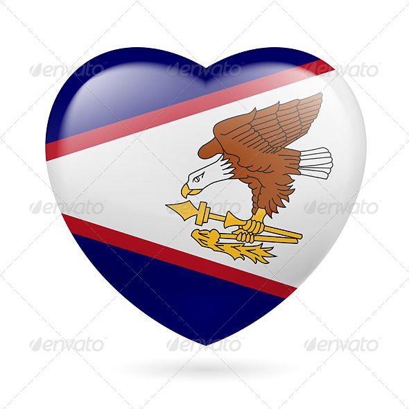 GraphicRiver Heart Icon of American Samoa 7341566