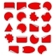 Set of Red Stickers - GraphicRiver Item for Sale