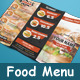 Trifold Fast Food Menu - GraphicRiver Item for Sale