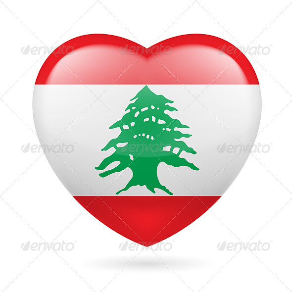 GraphicRiver Heart Icon of Lebanon 7341759