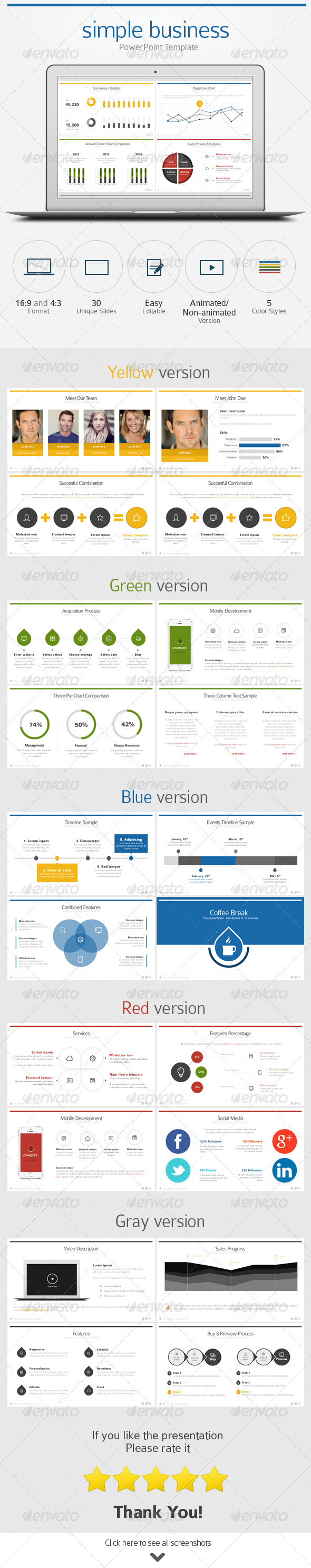 GraphicRiver Simple Business PowerPoint Template 7341773