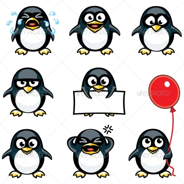 GraphicRiver Smiley Penguins 7341913