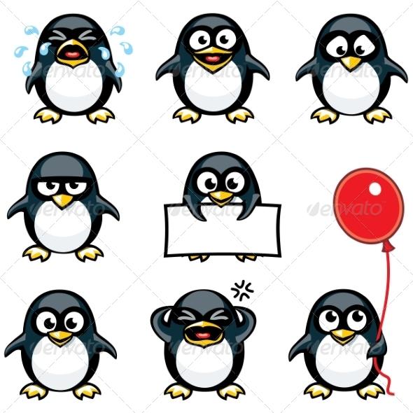 GraphicRiver Smiley Penguins 7341913