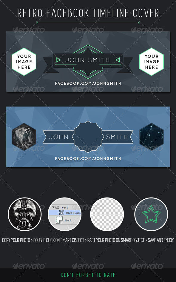 GraphicRiver Retro Facebook Timeline Cover 7342114