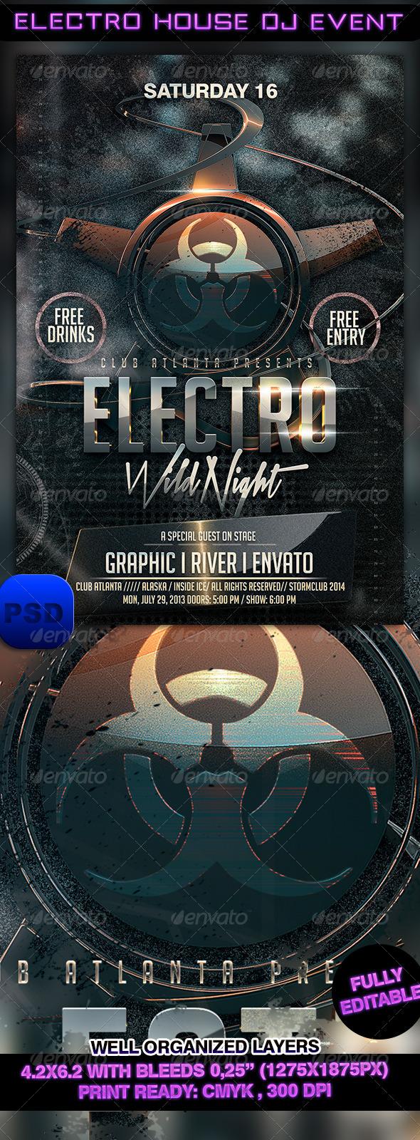 GraphicRiver Electro House DJ Event 7342142