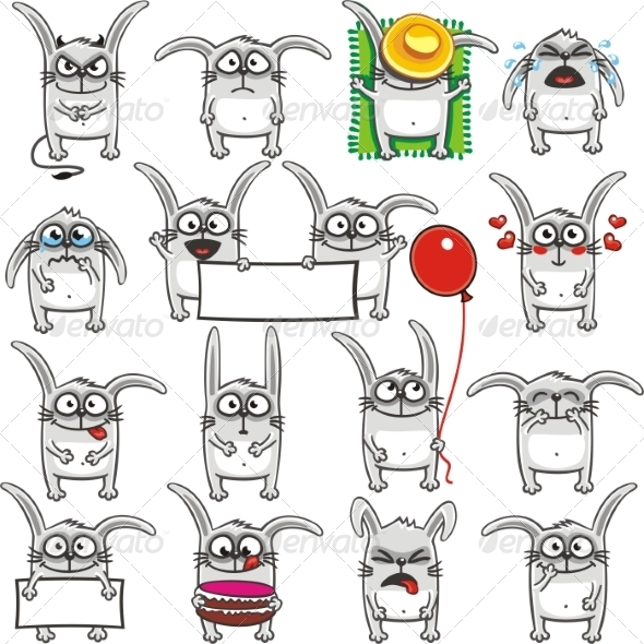 GraphicRiver Smiley Rabbits 7342256
