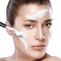 Spa Girl with Cream on Her Face. Skincare concept - PhotoDune Item for Sale