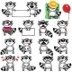 Smiley Racoons - GraphicRiver Item for Sale
