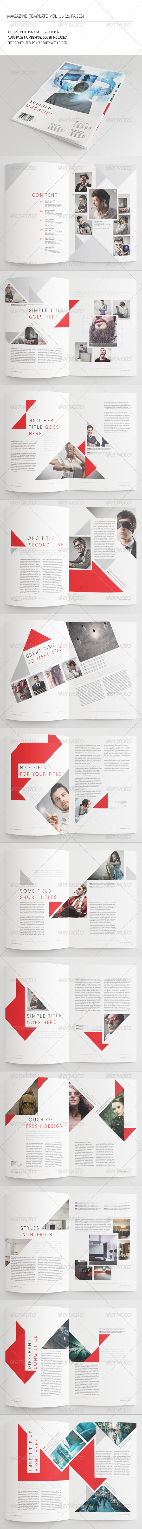 GraphicRiver 25 Pages Business Magazine Vol38 7336492