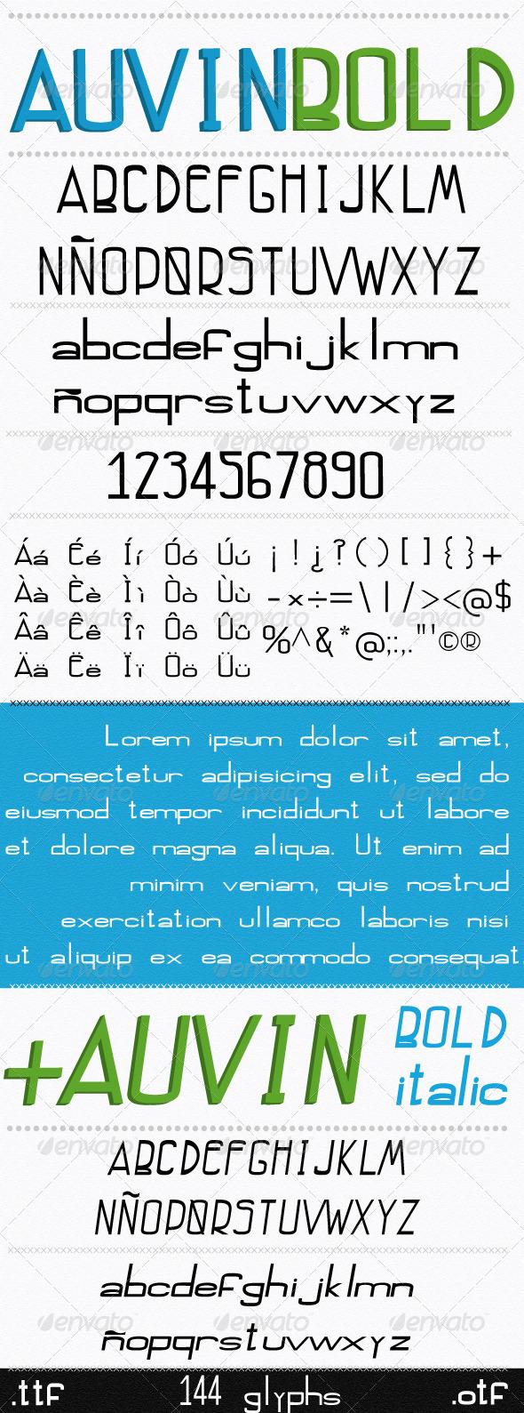 GraphicRiver Auvin Font Bold Bold Italic 7342359