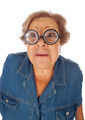 Elderly woman with surprised expression - PhotoDune Item for Sale