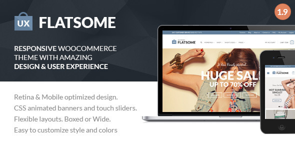 Theme de WordPress Estilo Flat: Flatsome