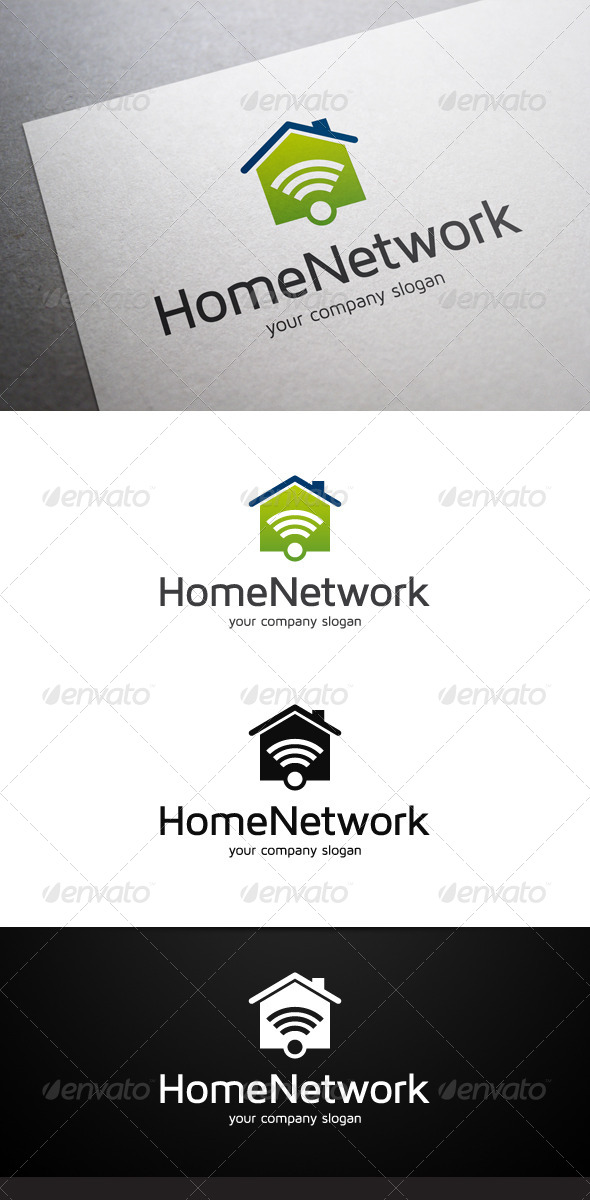 GraphicRiver Home Network Logo 7342389