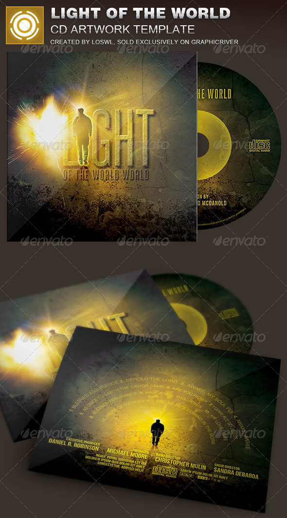 GraphicRiver Light of the World CD Artwork Template 7342396