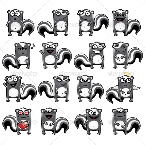 GraphicRiver Smiley Skunks 7342401