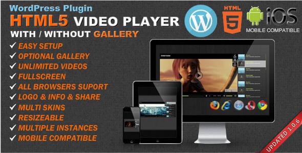CodeCanyon HTML5 Video Player & Gallery WordPress plugin 7316469