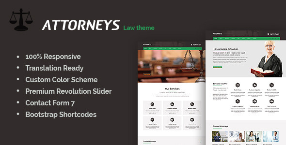 ThemeForest Attorney Corporate Wordpress Theme 7342835
