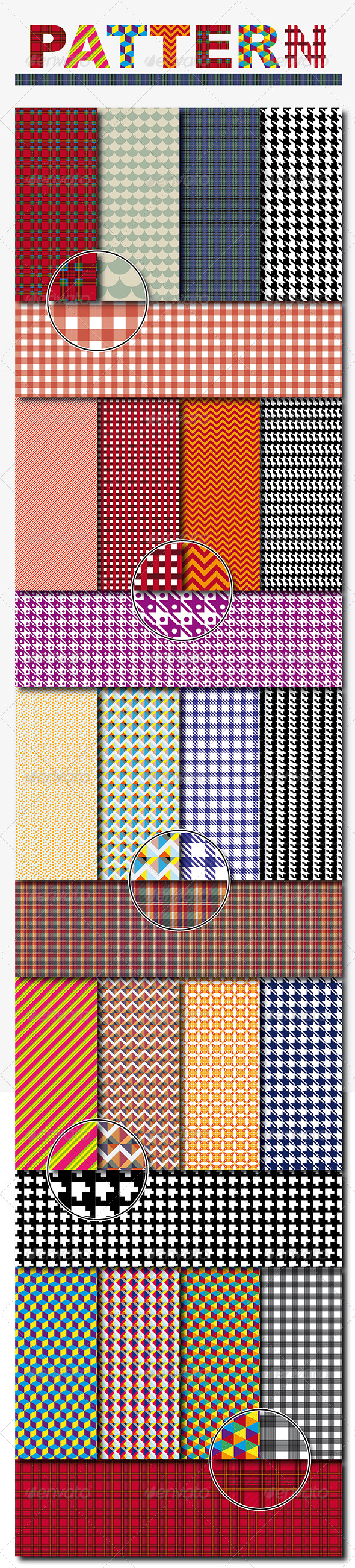 GraphicRiver Textile and Decorative Pattern Background 7342902