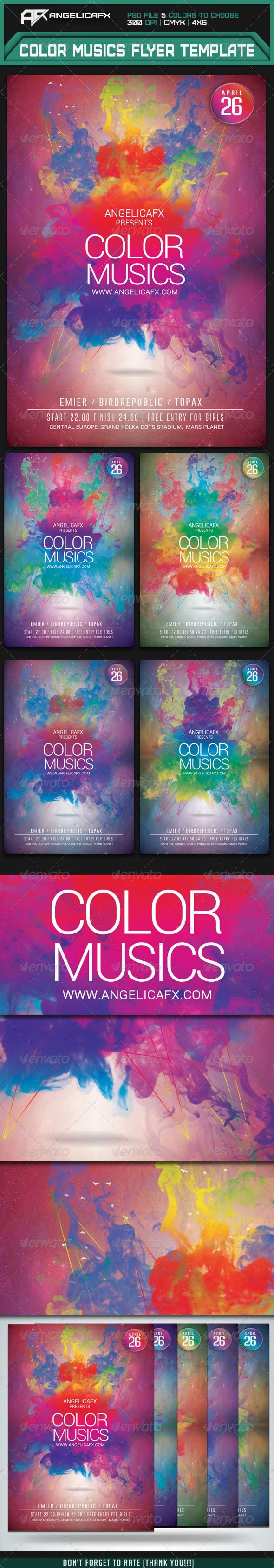GraphicRiver Color Music Flyer Template 7337461
