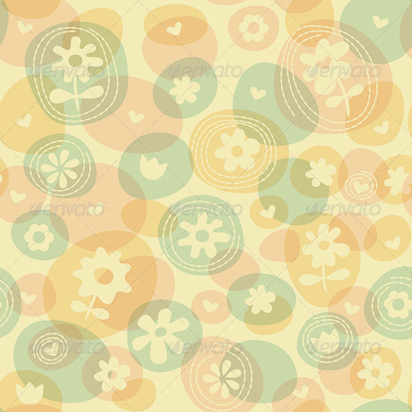 GraphicRiver Repeat Spring Flowers Fun Stitched Pattern 7343305
