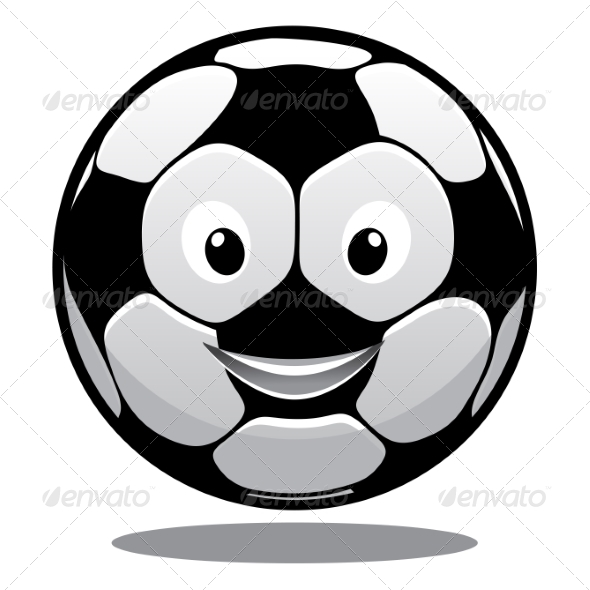 GraphicRiver Happy Cartoon Smiling Soccer Ball 7343490