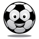 Happy Cartoon Smiling Soccer Ball - GraphicRiver Item for Sale