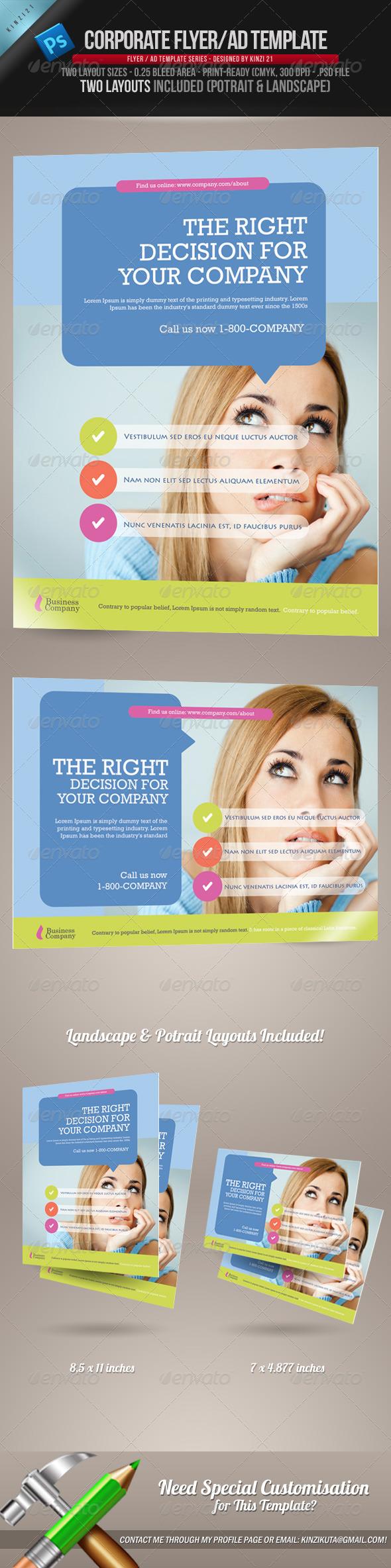 GraphicRiver Corporate Flyer Ad Template 760636
