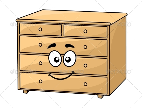 GraphicRiver Cartoon Wooden Chest of Drawers 7343730