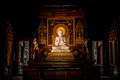 White Buddha in wood church. - PhotoDune Item for Sale