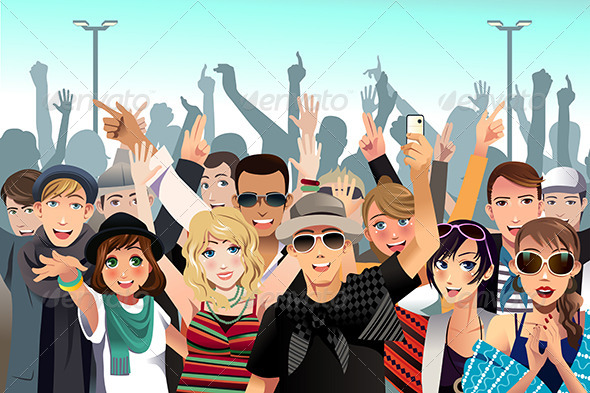 GraphicRiver People in a Concert 7344077