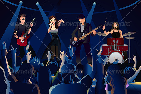GraphicRiver People in a Concert 7344078