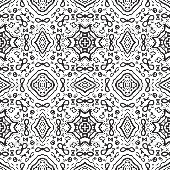 GraphicRiver Seamless Abstract Hand Drawn Vector Pattern 7344233