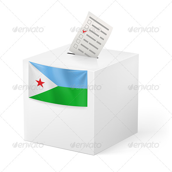 GraphicRiver Ballot Box with Voting Paper Djibouti 7344672