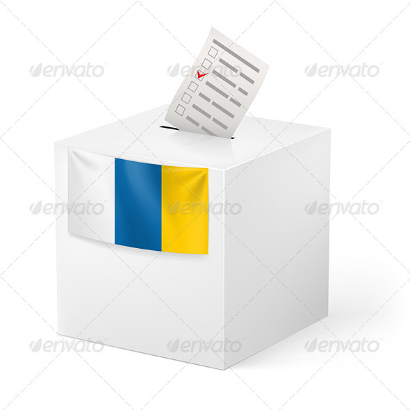 GraphicRiver Ballot Box with Voting Paper Canary Islands 7344707
