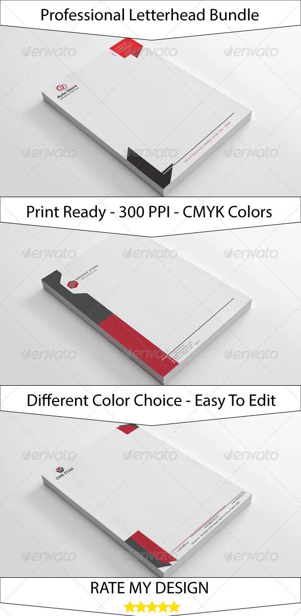 GraphicRiver Clean Simple Letterhead Bundle 7344720