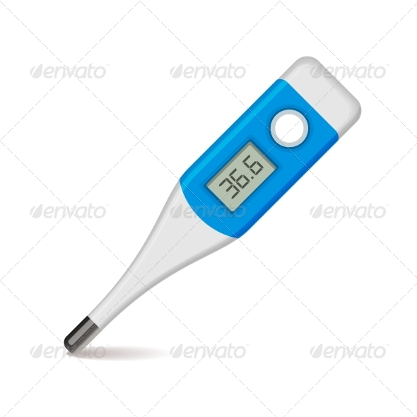 GraphicRiver Medical Thermometer on White Background Vector 7344773
