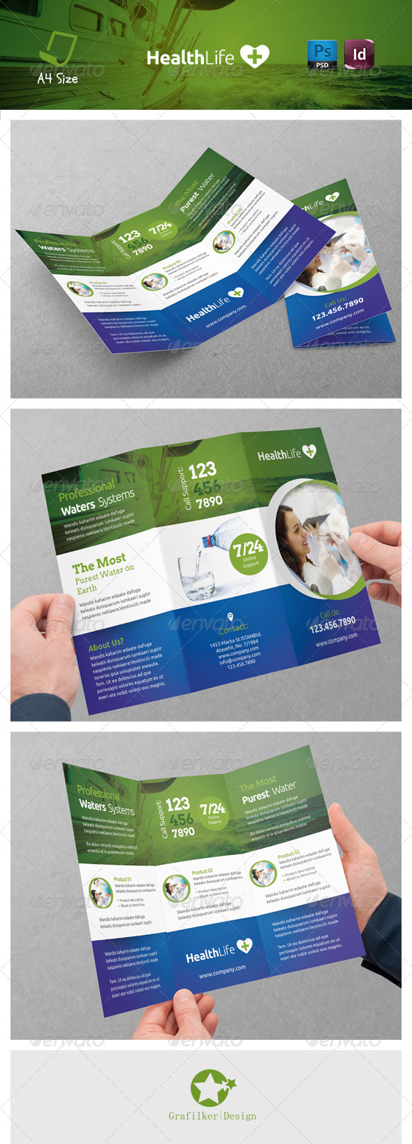 GraphicRiver Health Tri-Fold Templates 7344805