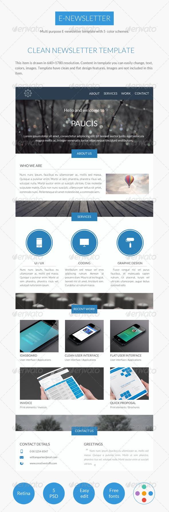 GraphicRiver Clean E-Newsletter 7326958