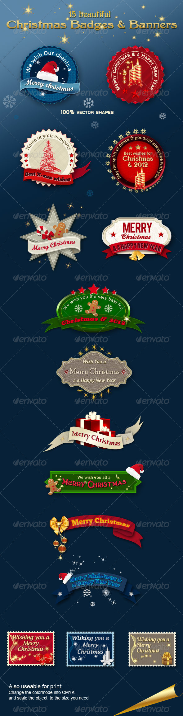 GraphicRiver Christmas Badges & Banners 760673