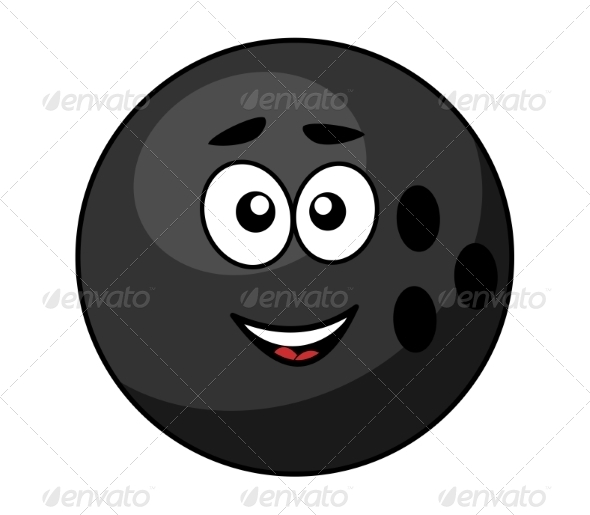 GraphicRiver Black Bowling Ball with a Happy Smile 7345316