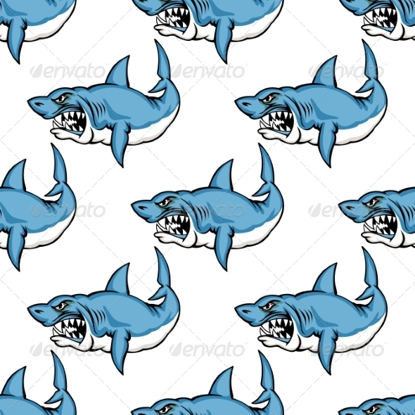 GraphicRiver Fierce Predatory Swimming Shark 7345317