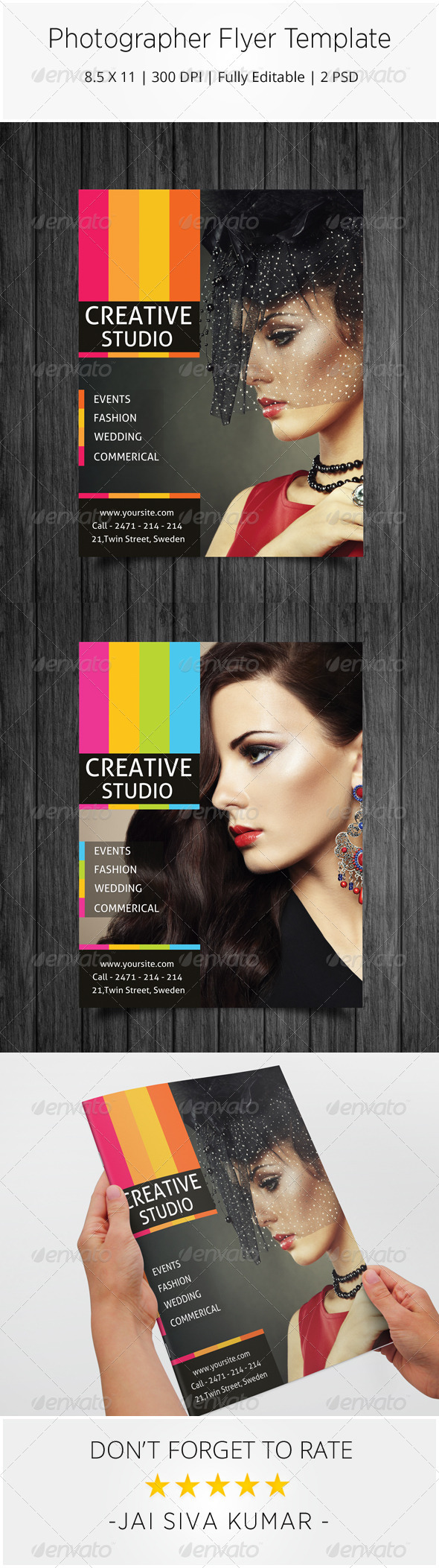 GraphicRiver Simple Photographer Flyer Template 7345383