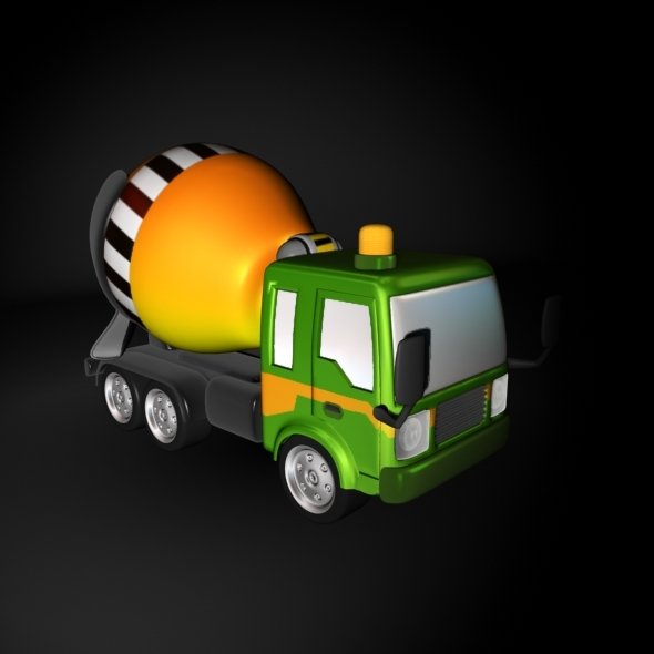 3DOcean Cartoon Cement Mixer Truck 7345404