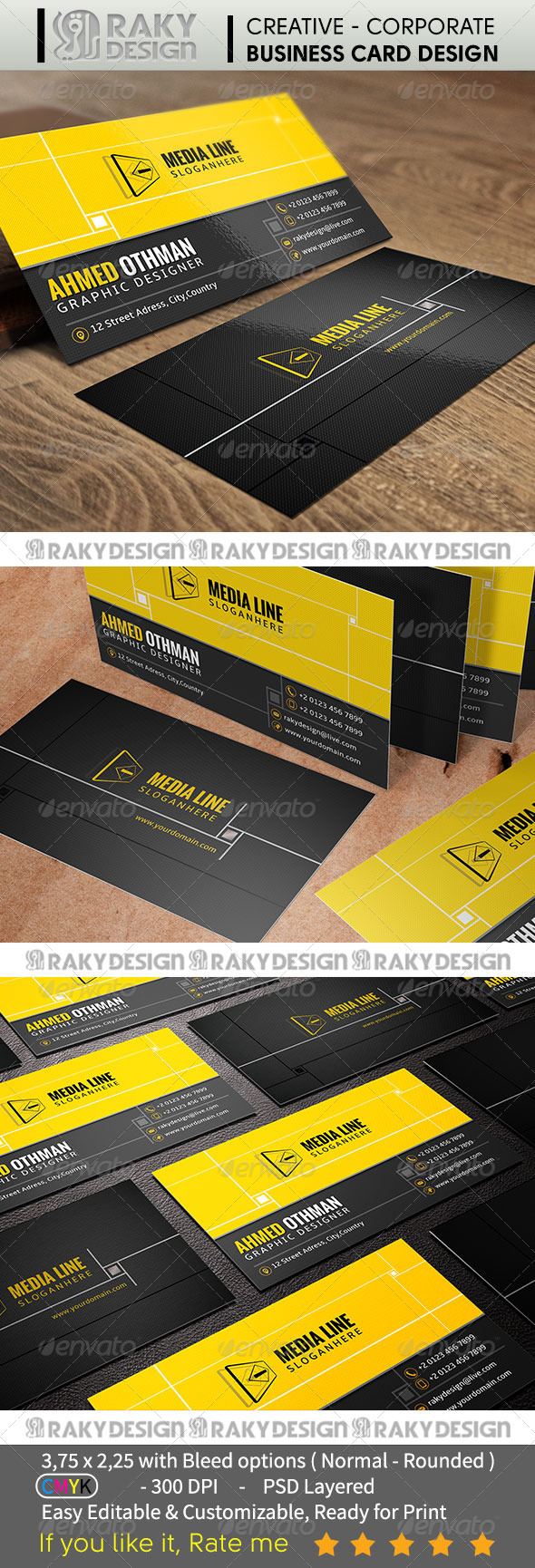 GraphicRiver Corporate Business Card V05 7345406