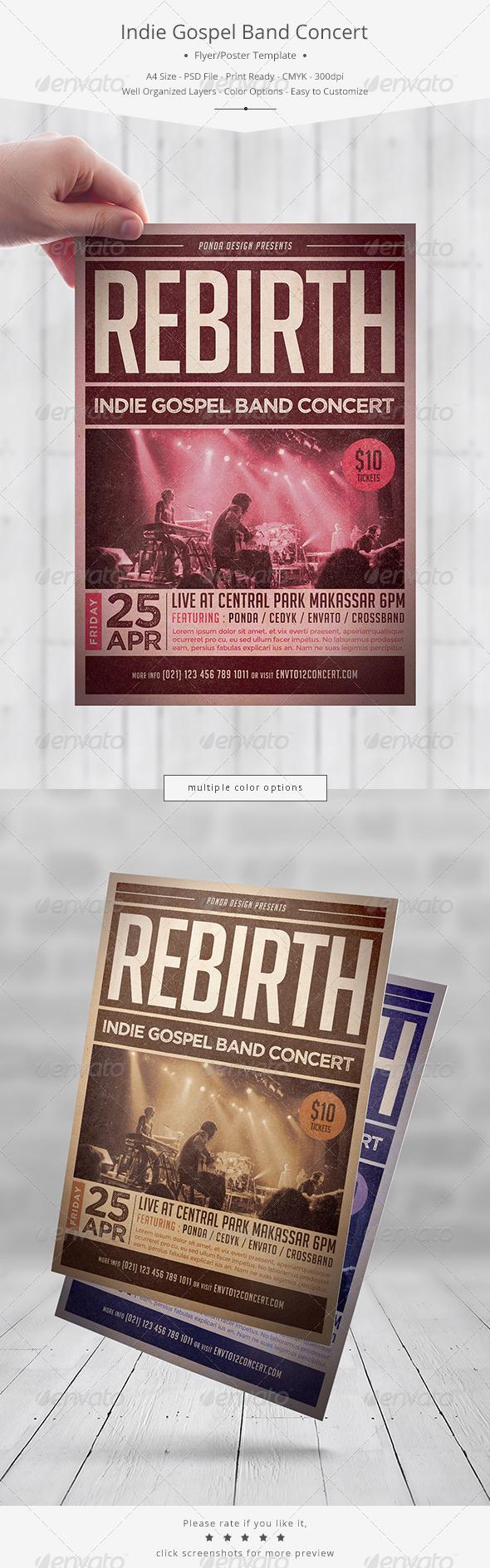 GraphicRiver Indie Gospel Band Concert Flyer 7345481