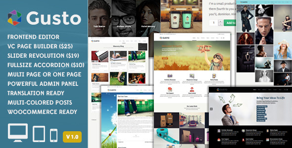 ThemeForest Gusto Vanguard Wordpress Theme 7229115
