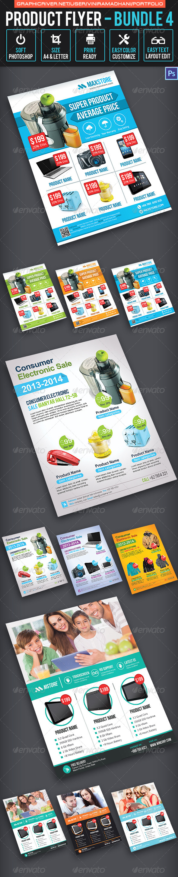 GraphicRiver Product Promotion Flyer Bundle 4 7345524